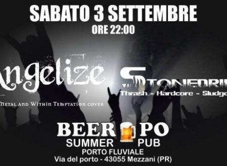 """Angelize & Stonedrift sul palco del"""" Beer Po Summer Pub"""" in provincia di Parma"""