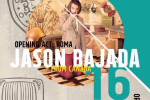 Dal Quebec arriva il songwriter JASON BAJADA dal vivo a Vallo della Lucania (SA) giovedì 16 febbraio in apertura rOMA, cantautore di Eboli