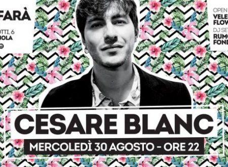 Dopo il successo a LE MURA di Roma, Cesare Blanc live al SAFARA' di Cerignola