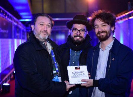 Il MEI assegna la targa a Lo Stato sociale  per aver rappresentato la musica indipendente al Festival di Sanremo
