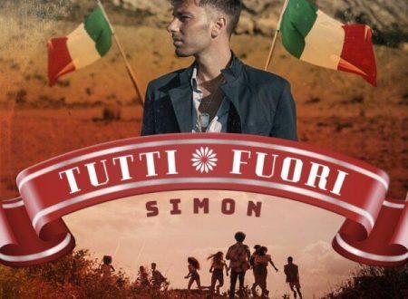 """Simon in radio ed in tutti i digital store con il singolo """"Tutti fuori"""""""